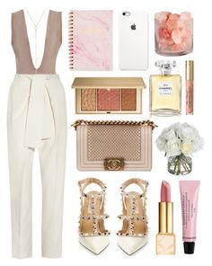 """""""Never again"""" by shanelala ❤ liked on Polyvore featuring Chloé, Diane James, Valentino, Chanel, Tory Burch and Estée Lauder"""