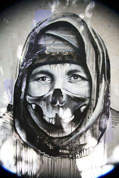Borondo x Achilles x Mu x Bocho x Mufa x Sara New Mural In Athens, Greece Art Banksy, Graffiti Murals, Mural Art, Wall Art, Street Art Love, Best Street Art, Street Style, Urban Graffiti, Street Art Graffiti