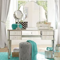 Zoe Desk + Vanity Hutch