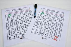 PRINTABLE Kids ABC Maze Upper Case Letter by LegacyLearning