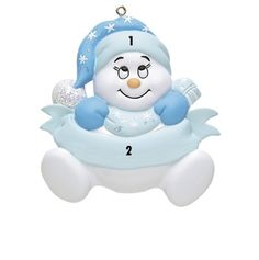 Little Boy Blue Snowman Personalized Ornament Baby's 1st Christmas Ornament, Babys 1st Christmas, Christmas Tree Decorations, Little Boy Blue, Baby Blue, Personalized Christmas Ornaments, Christmas Inspiration, Christmas Traditions, Snowman