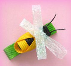 Bumblebee Hip Girl Hair Bow Clip Instruction
