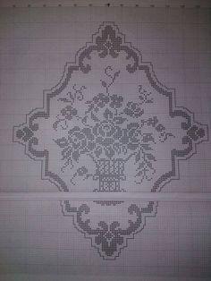 Crochet Tablecloth, Crochet Doilies, Crochet Lace, Embroidery Patterns, Stitch Patterns, Crochet Patterns, Romanian Lace, Flora Flowers, Filets