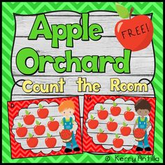 Apple Orchard Count the Room FREEBIE!  Students will practice counting groups of apples from 1-12, a recording sheet is included.