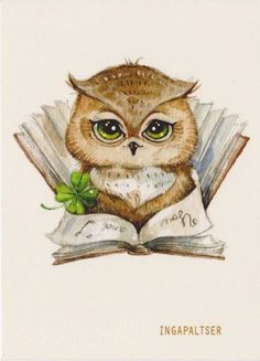 cartoon owl...