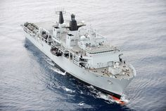 HMS Bulwark, currently deployed in the Mediterranean helping with the migrant search and rescue mission. Seen here, the ship was taking part in Cougar, a three month deployment also in the Mediterranean, as part of the United Kingdom's Response Force Task Group, exercising with key allies.