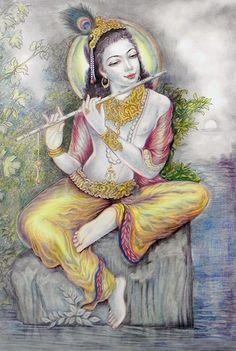 Murlidhar Krishna (Reprint on Paper - Unframed))