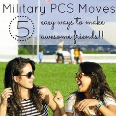 Making Friends after a Military PCS Move via @lauren9098