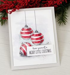 Stamp Away With Me: VIDEO: Watercolored Ornaments + OCC Giveaway