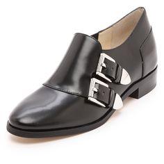 Michael Michael Kors Robin Monk Strap Flats - Black