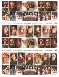 yourATCstore ATC Vintage Santas & Angels Collage Sheet
