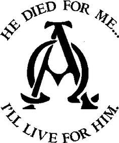 Alpha And Omega Christian Symbol   Alpha Omega - Christian, Religious, Witness vinyl graphic window ...