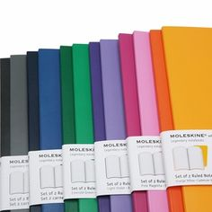 Volant notebooks! Love green, pink, lavender, gray, navy, and classic black.