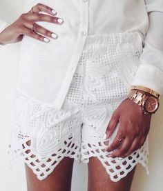 White lace shorts - Sponsored by Esther