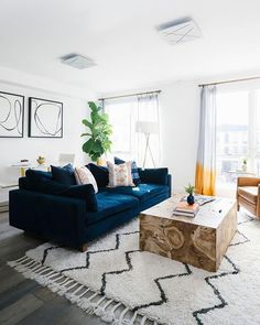 Bring some harmony to your space (literally)! Shop the Harmony Sofa with link in… Bring some harmony to your space (literally)! Shop the Harmony Sofa with link in bio. Share yours with west elm ✨ Blue Couch Living Room, Boho Living Room, Interior Design Living Room, Living Room Designs, Living Room Decor, Living Room Inspiration, Sofa Inspiration, Link, Navy Couch