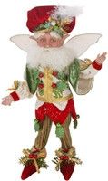 $39.99 The Mark Roberts Christmas Berry Fairy is wearing his festive vest with elaborate green embroidery and golden trim along with his red velvet hat and shoes. He measures 10″ tall and has posable arms legs and wings. A perfect addition to your Mark Robert collection or a great way to start one. All of Mark Roberts Fairies comes with their own collector's box and Certificate of Authenticity. http://piperlillies.com/