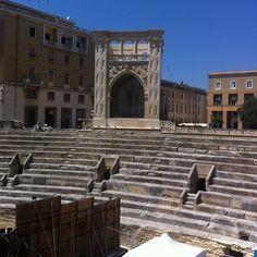 Piazza Sant'Oronzo nel Lecce, Puglia