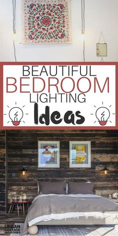 Wall lights can transform your bedroom decor to a whole new level. They create a beautiful, cozy room where you can feel safe to sleep. See these lighting ideas for your bedroom and redesign it! Baby Room Lighting, Bedside Lighting, Bedroom Lighting, Wall Sconce Lighting, Home Lighting, Bedroom Decor, Unique Lighting, Lighting Ideas, Urban Cottage Industries