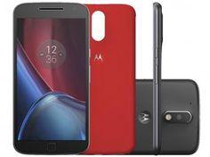 """Smartphone Motorola Moto G 4ª Geração Plus 32GB - Preto Dual Chip 4G Câm 16MP + Selfie 5MP Tela 5.5"""""""