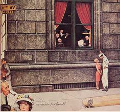 Norman Rockwell's seldom seen Saturday Evening Post cover of 27 August Norman Rockwell Prints, Norman Rockwell Paintings, Best Painting Ever, Peintures Norman Rockwell, The Saturdays, Saturday Evening Post, Saturday Night, American Artists, Belle Photo