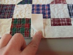 "THE PIC IS ABOVE THE INSTRUCTIONS............................. First you would start stitching your binding on leaving at least 8-10"" of th..."