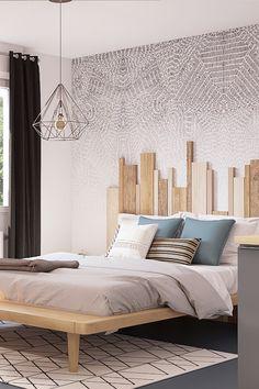 Projet 3D réalisé par Marion pour ce 2ème épisode de Battle Déco. Découvrez comment optimiser l'espace dans un studio. #déco #3D #optimiser #espace #studio #chambre Deco Studio, Apartment Interior Design, Wood Design, Sweet Home, Bedroom Decor, Bedrooms, Sleep, Decor Ideas, 3d