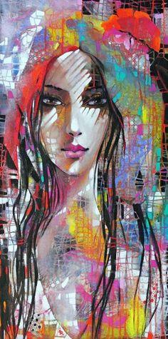 Beautiful And Sensual Paintings Of Women By Ira Tsantekidou / of 6 Photos Arte Pop, Tableau Pop Art, Portrait Art, Portraits, Face Art, Art Faces, Figurative Art, Painting Inspiration, Amazing Art