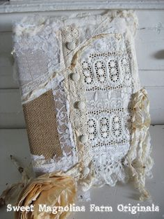 Rustic Romance Lace Journal  Timeless  by SweetMagnoliasFarm, Sold to a Good Home !