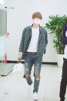 150707: EXO Byun Baekhyun; Tokyo Airport to Gimpo Airport #exok #fashion #style