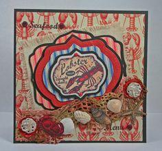 Introducing Oceanside Medallion Labels and Ticking Stripe Background Stamp