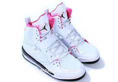 air Jordans girls flight pink and white. Want theseee!