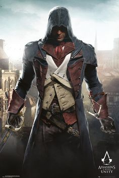 Assassins Creed Unity -Cityscape poster