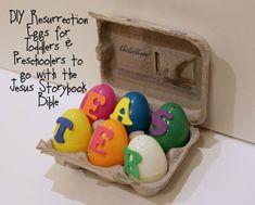 DIY Resurrection Eggs for Toddlers and Preschoolers to Go with the Jesus Storybook Bible