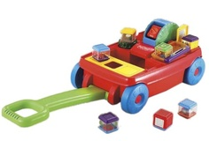 fisher price peek a blocks wagon -
