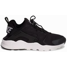 Nike Air Huarache Run Ultra ($160) ❤ liked on Polyvore featuring shoes, everyday shoes, womens-fashion, nike shoes, laced up shoes, nike footwear, laced shoes and round cap