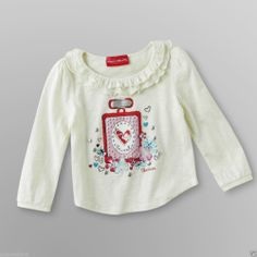 Skechers Baby/Toddler Girl's Adorable Top Cream Graphic/Bows/Flowers - Sz 12mo #SKECHERS #Everyday - Re-list March 2, 2014 - 7 day Auction