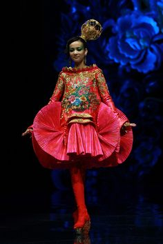 """From Guo Pei's """"Legend of the Dragon""""haute couture collection and show, 2012    Guo Pei"""