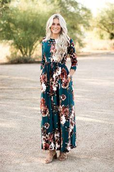 Flattering Floral Maxi Dress