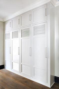 Lockers for closed mudroom storage- Jane Goetz Interior Design