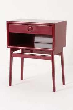 Danish modern bedside table is likely to be made of quality wood.