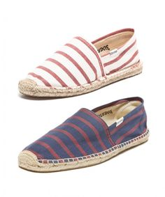 Fourth of July Outfit Ideas for Him: Classic Stripe espadrille, $48, SOLUDOS, soludos.com.