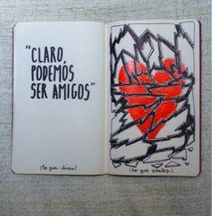 """""""Claro podemos ser amigos"""" (Alfonso Casas)."""