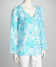 Take a look at this White Tahitian Flower Top by Fresh Produce on #zulily today!