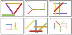 Colored Craft Stick Spatial Patterns - 40 FREE cards to improve spatial skills.