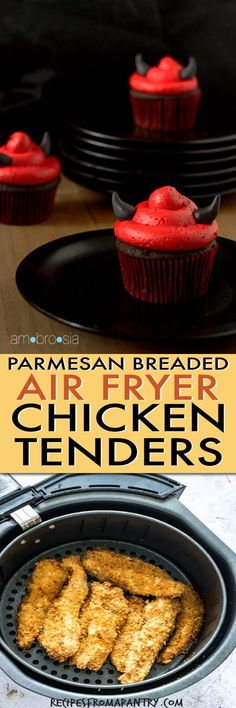 This golden parmesan crusted air fryer chicken tenders recipe is quick and easy to whip up!! If you like baked parmesan crusted chicken breast, this recipe is for you. Click through to learn how to make air fryer chicken strips!! #airfryerchickentenders #airfryerchickenstrips #airfryerrecipes #parmesancrustedchicken #parmesanchicken #bakedparmesancrustedchicken #easyparmesancrustedchicken #chickentenders #parmesan #chickenstrips#Parmesan #Breaded recipes with chicken tenders Parmesan B Air Fryer Recipes Chicken Tenders, Chicken Tender Recipes, Baked Parmesan Crusted Chicken, Chicken Strips, Breast, Food, Eten, Meals, Colt 45