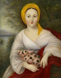 Dame Avec Un porc Marvelous. Fatima Ronquillo 2010