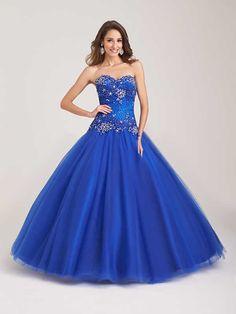 Vestidos de quinceañera azules 2015 de Allure Bridals