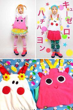 Super kawaii ghost aprons by Kera Magazine model Haruka Kurebayashi. She'll be releasing these soon on her online shop.