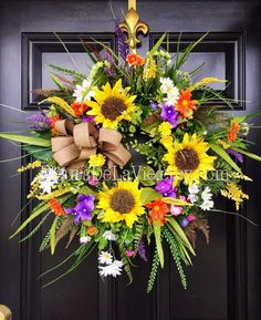 A personal favorite from my Etsy shop https://www.etsy.com/listing/231955072/springdoor-wreaths-summer-wreaths-front