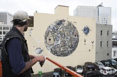 Cannon Dill Paints His Largest Mural to Date in Oakland